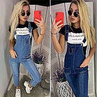 62d56b55783 Женский красивый джинсовый комбинезон с нашивками