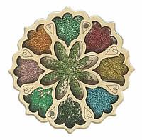 Деревянный органайзер для бисера с крышкой Shasheltoys Цветочек 9 ячеек диаметр 15 см (060109)