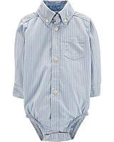 Детская боди-рубашка для мальчика  18, 24 месяца