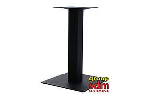Опора для стола Лена, крашенная, цвет черный, высота 72 см, размер 45*45 см