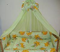 Детский постельный комплект GOLD, 4 предмета, Салатовый