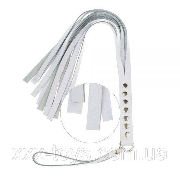 Флогер S&M Fancy Leather Floger White, фото 1
