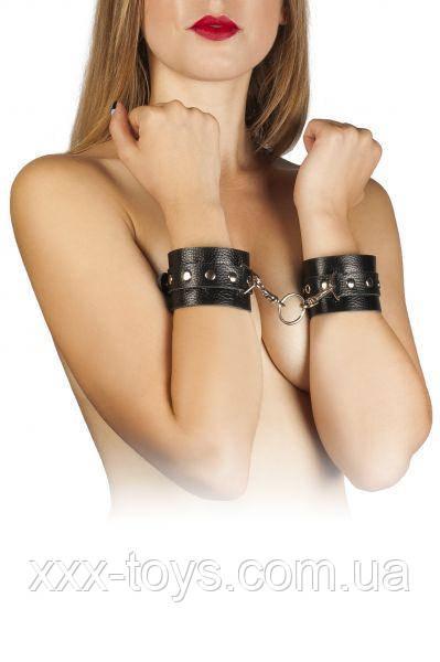 Наручники Leather Restraints Hand Cuffs, black, фото 1
