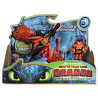 «Как приручить дракона 3» дракон Кривоклык и всадник Сморкала, фото 1