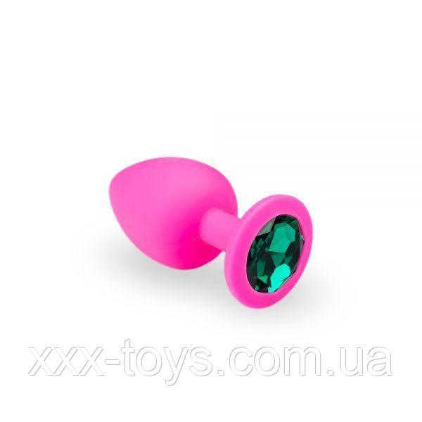Анальная пробка, Pink Silicone Emerald, M