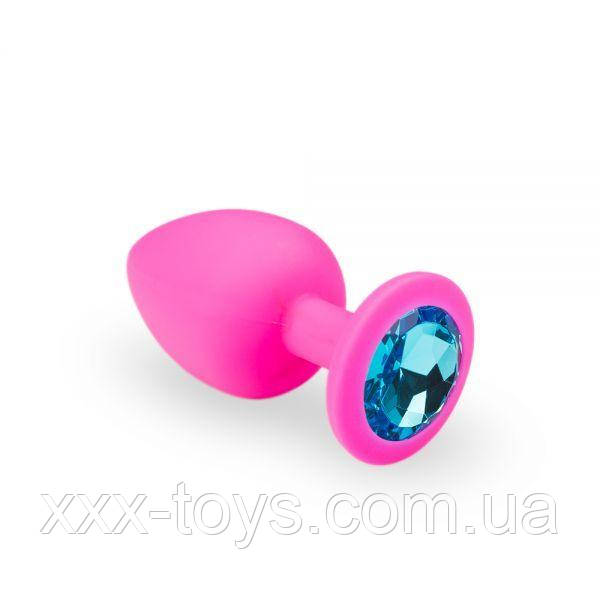 Анальная пробка, Pink Silicone Topaz, L