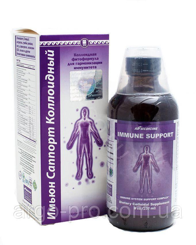 Имьюн Саппорт коллоидная фитоформула Ad Medicine США укрепление иммунитета, иммуномодулятор, бронхит, инфекция