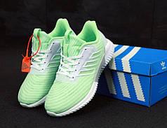 Женские кроссовки  Adidas ClimaCool Green. ТОП Реплика ААА класса.