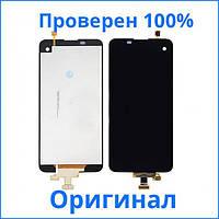 Оригинальный дисплей LG X220 K5 черный (LCD экран, тачскрин, стекло в сборе)