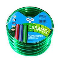 Шланг поливочный Presto-PS силикон садовый Caramel (зеленый) диаметр 3/4 дюйма, длина 20 м (CAR-3/4 20), фото 1