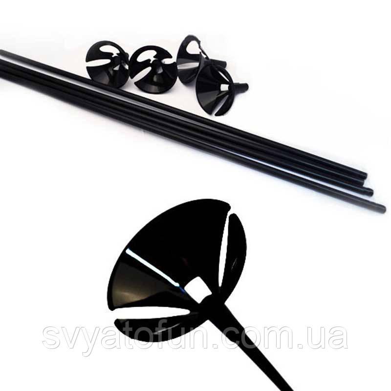 Палочки с насадками цвет черный 100шт/уп