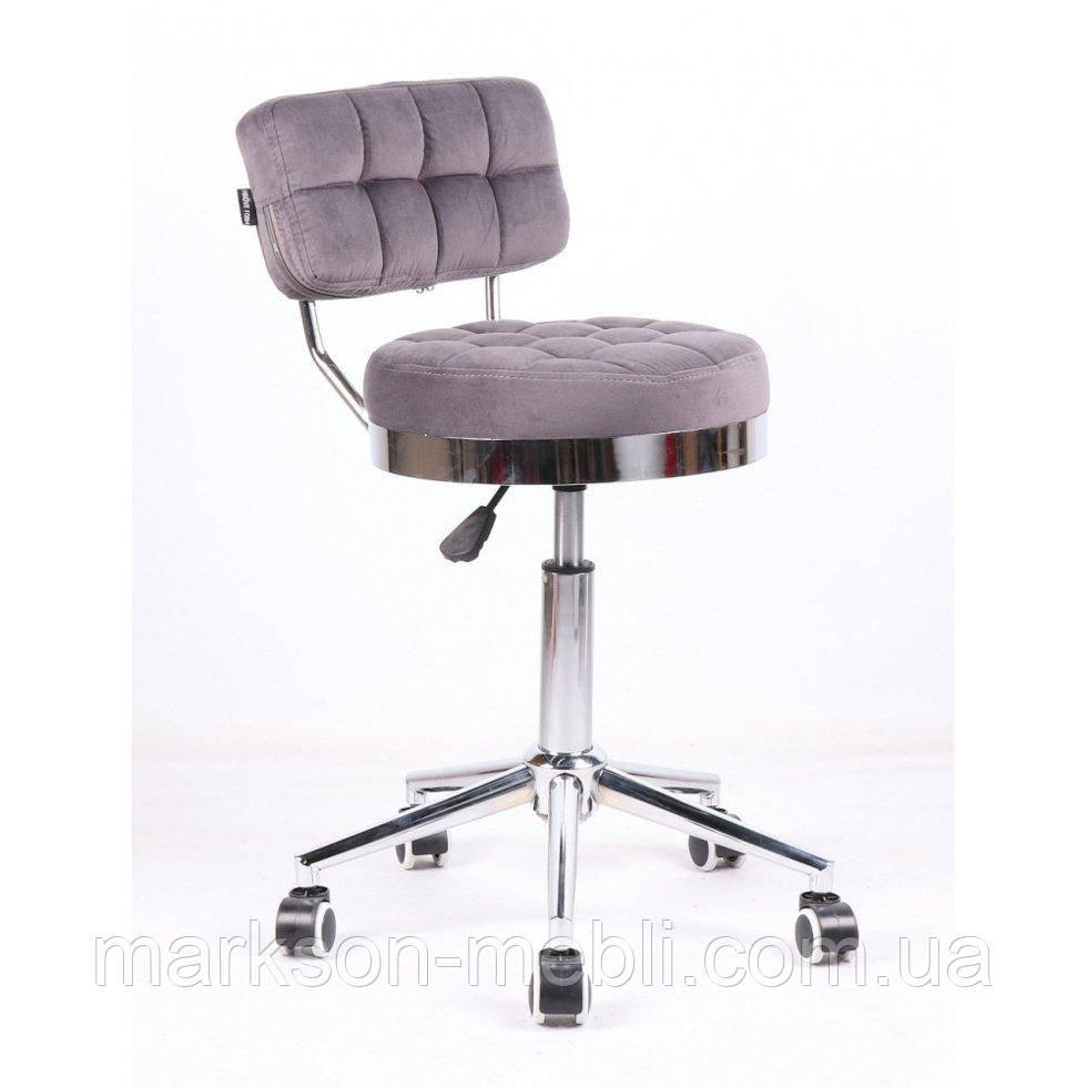 Косметическое кресло HR636 графитовый велюр
