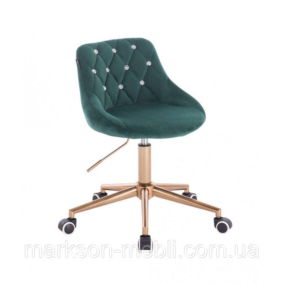 Косметическое кресло HROOVE FORM HR1054CK бутылочный велюр крестовина золото