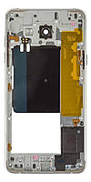 Средняя часть корпуса Samsung A510F Galaxy A5 2016 белая, Середня частина корпуса Samsung A510F Galaxy A5 2016 біла