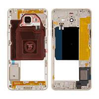 Средняя часть корпуса Samsung A5100 Galaxy A5 (Ver. 2016) золотистая, Середня частина корпуса Samsung A5100 Galaxy A5 (Ver. 2016) золотиста