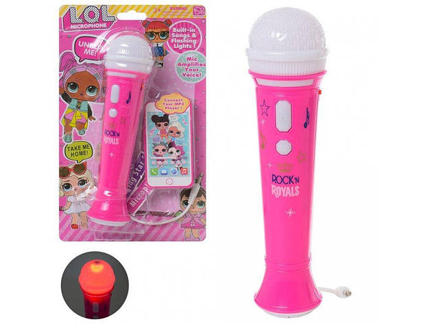 Микрофон детский 20 см LOL DS-004-1U, фото 2