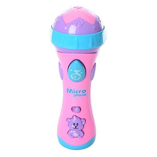 Микрофон детский 17см, музыка, свет, 2 вида