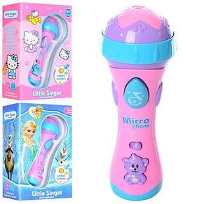 Микрофон детский 17см, музыка, свет, 2 вида, фото 2