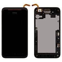 Дисплей HTC Desire 210 Dual Sim черный (LCD экран, тачскрин, стекло, рамка в сборе), Дисплей HTC Desire 210 Dual Sim чорний (LCD екран, тачскрін,