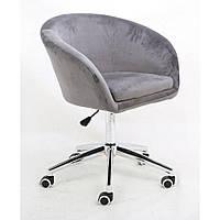Косметическое кресло HROOVE FORM HR8326K стальной велюр, фото 1
