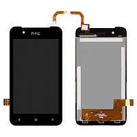 Дисплей HTC Desire 210 Dual Sim черный (LCD экран, тачскрин, стекло в сборе), Дисплей HTC Desire 210 Dual Sim чорний (LCD екран, тачскрін, скло в