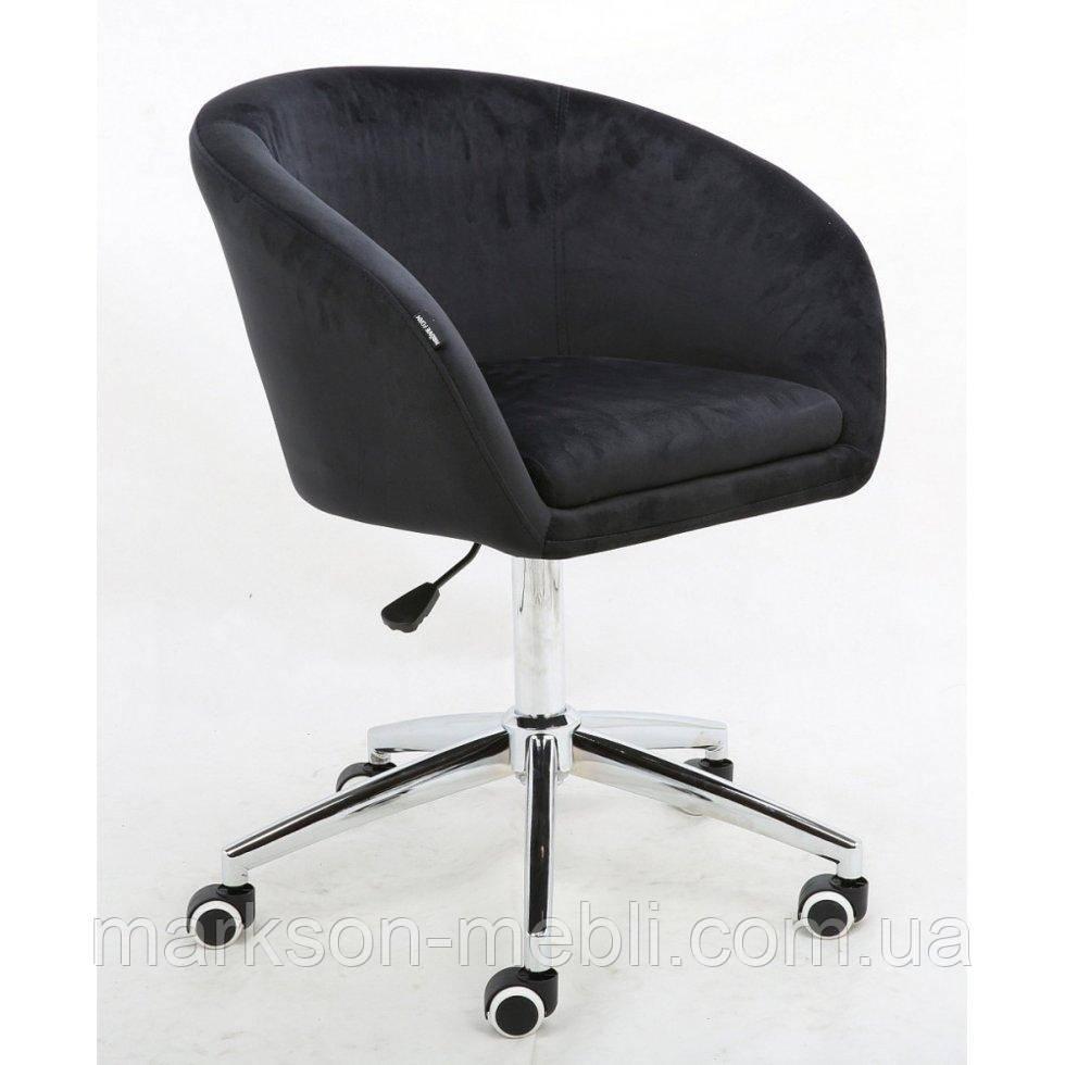 Косметическое кресло HROOVE FORM HR8326K черный велюр