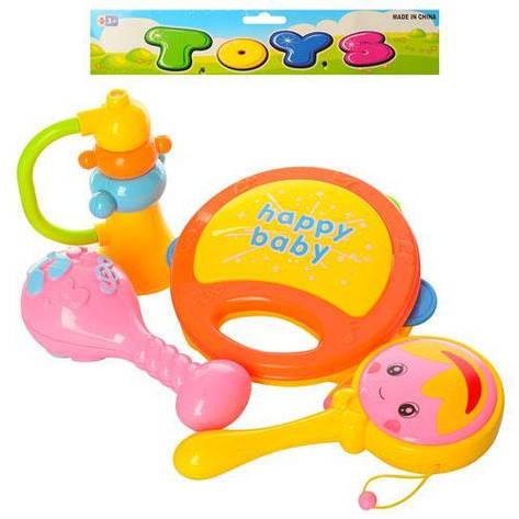 Музыкальные инструменты маракас, бубен, мини-бубен, дудка, в кульке, фото 2