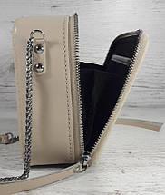 66-р Натуральная кожа, Сумка кросс-боди, белая сумка с ручной росписью, кожаная сумка с росписью вручную, фото 2