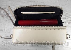 66-ц Натуральная кожа, Сумка кросс-боди, белая сумка с ручной росписью, кожаная сумка с росписью вручную, фото 3