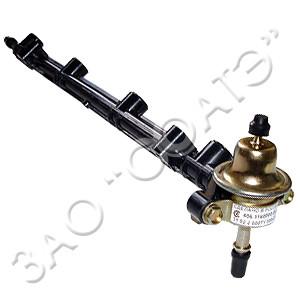 Топливопровод со штуцером и клапан. 406.1104.058-30