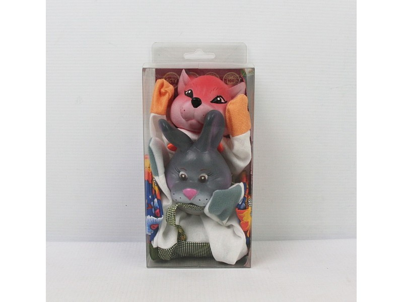 Куклы - перчатки Лиса и Заяц  для кукольного театра