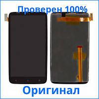Оригинальный дисплей HTC One X S720e черный (LCD экран, тачскрин, стекло в сборе), Оригінальний дисплей HTC One X S720e чорний (LCD екран, тачскрін,