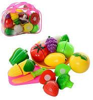 Набор фрукты и овощи на липучке