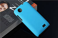 Чехол накладка бампер для Lenovo A369i голубой