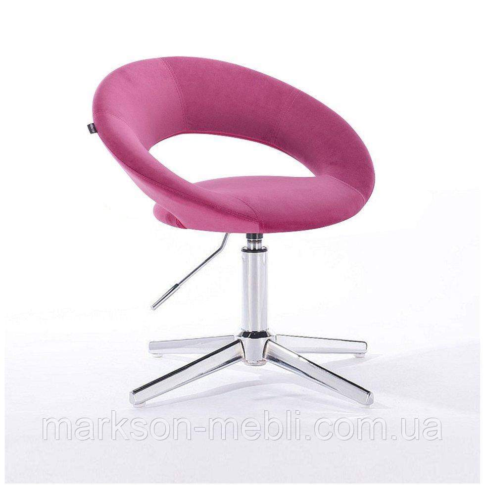 Парикмахерское  кресло HROVE FORM HR104CROSS малиновый велюр