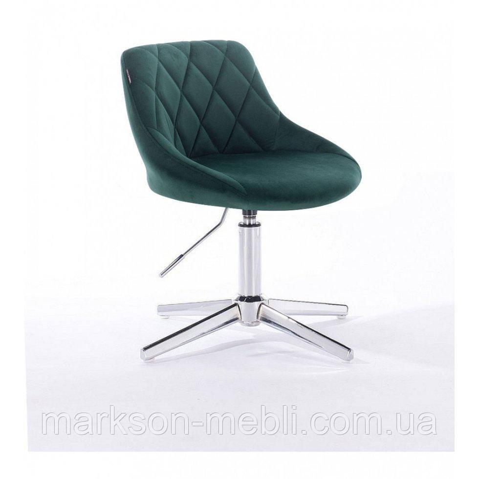 Парикмахерское  кресло HROVE FORM HR1054 CROSS бутылочный велюр
