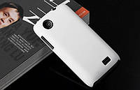 Чехол накладка бампер для Lenovo A369i белый