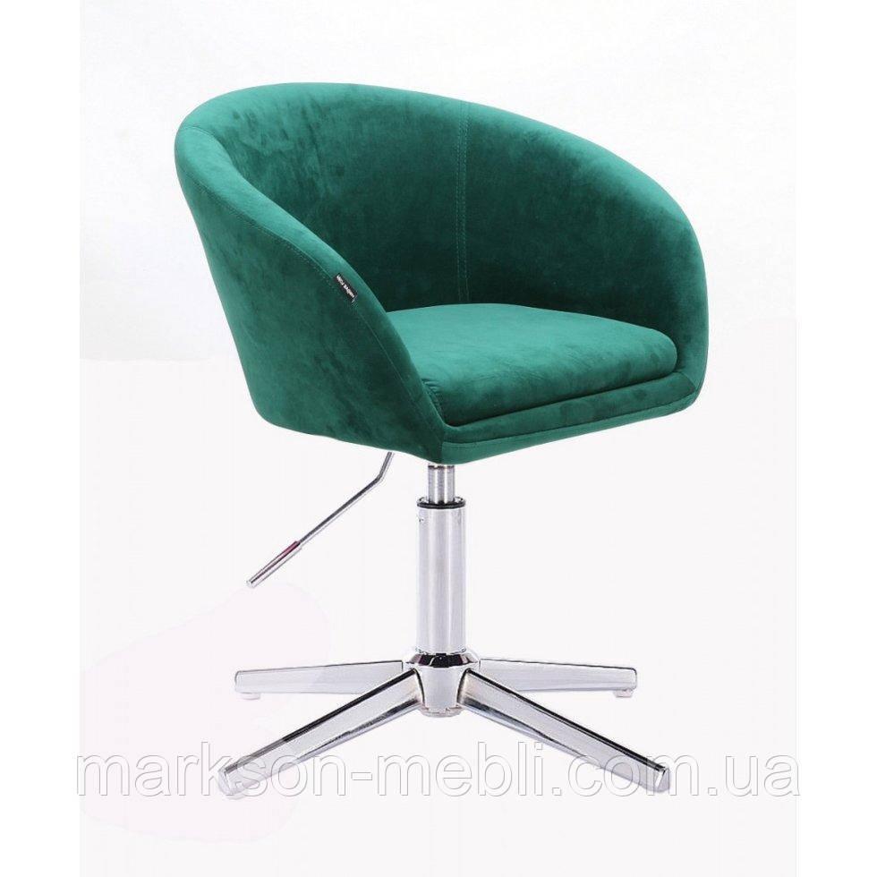 Парикмахерское  кресло HROVE FORM HR8326CROSS бутылочный велюр