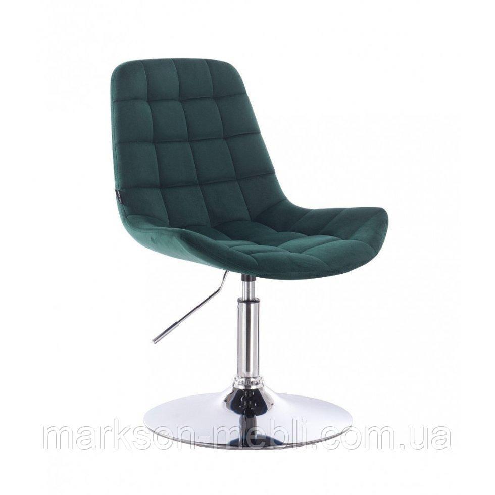 Парикмахерское кресло HR590N бутылочный велюр