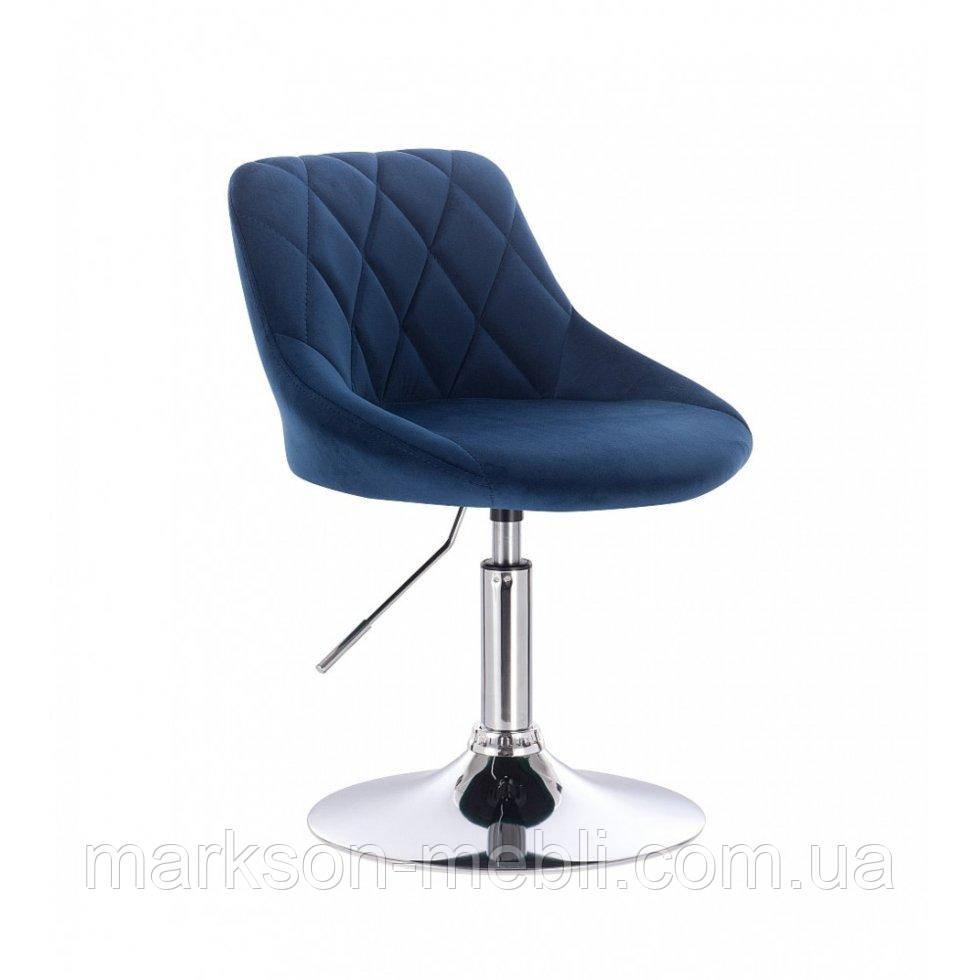 Парикмахерское кресло HROVE FORM HR1054 синий велюр
