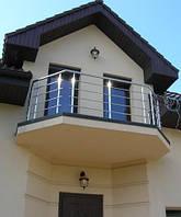 Ограждение балкона из нержавеющей стали, фото 1