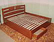 """Белая двуспальная кровать """"Сакура"""". Массив - сосна, ольха, береза, дуб., фото 2"""