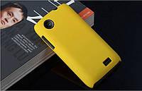 Чехол накладка бампер для Lenovo A369i жёлтый