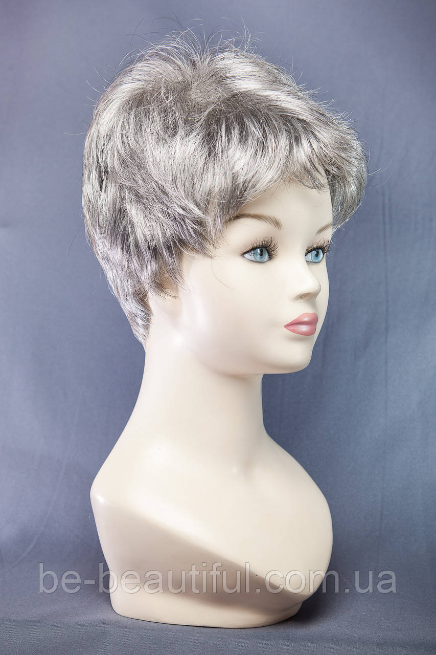 Короткие парики №15,цвет седой