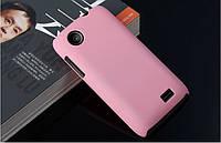 Чехол накладка бампер для Lenovo A369i розовый