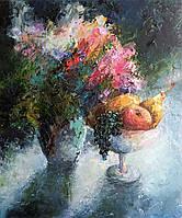Картина абстракция маслом. Картины цветы.