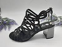 Босоножки на каблуке Magnolya черный 5360-1914 кожа 37(р)