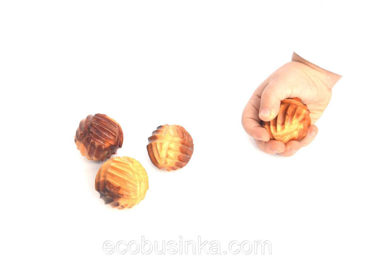 Тактильные шарики из можжевельника, массажные шарики 40мм