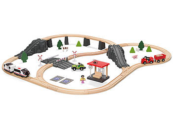 Деревянная железная дорога PlayTive Junior (80 элементов) Германия
