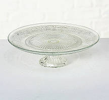 Подставка для торта прозрачное стекло d25см Гранд Презент 6066700